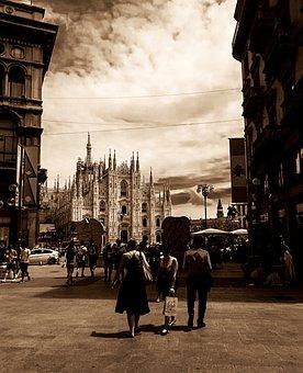 Milan, Lombardy, Italy, Duomo, Duomo Di Milano, City