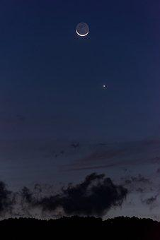 Moon, Night, Night Sky