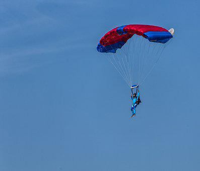 Air, Flight, Sky, Paratrooper