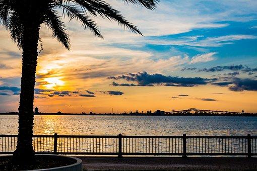 Sunset, Water, Summer, Sky, Nature, Landscape, Tree