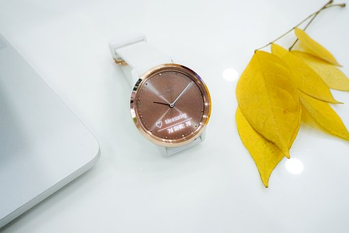 Watch, Smartwatch, Yellow, Leaf, Time, Technology