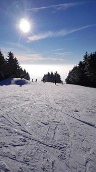 Blue Sky, Sun Is Shining, Snow, Mountains