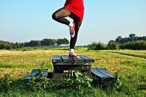 Yoga, Tree Pose, Pose, Woman, Legs, Balance, Training