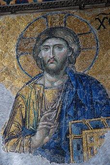 Istanbul, Turkey, Mosaic, Jesus, Turkish, Travel