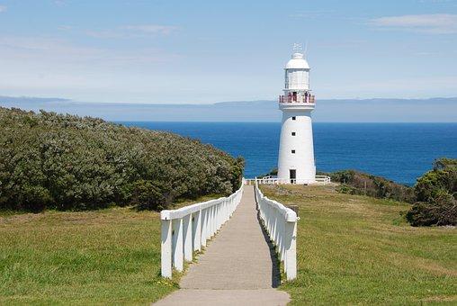 Lighthouse, Australia, South Australia, Fence, Coast