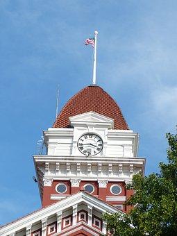 Court House, Blue Sky, Building, Landmark, Exterior