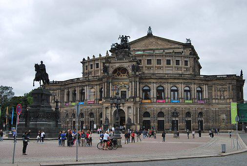 Building Of The Opera, Dresden, Germany