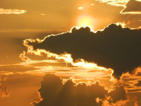 Clouds, Sunset, Dramatic, Sky, Nature, Sun, Landscape