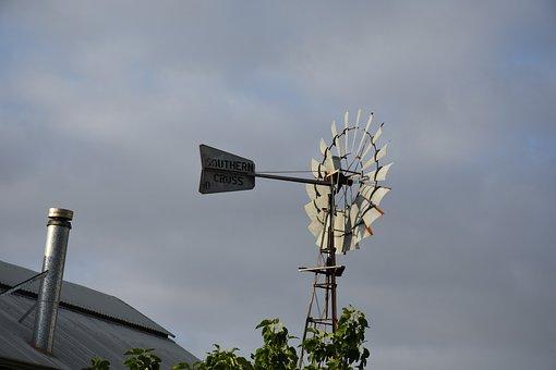Windmill, Farm, Countryside
