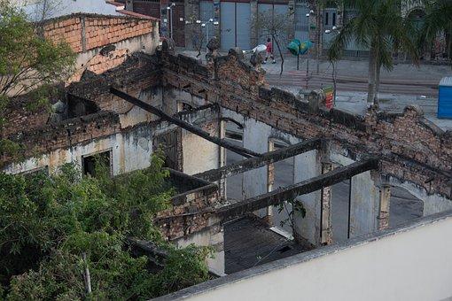 Debris, House, Demolition, Destruction, Demolished