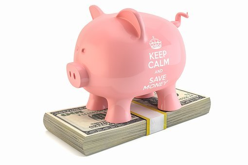 Piggybank, Dollar, Savings, Banknote, Fund, Financial