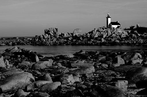 Brittany, Finistère, Side, Brignogan, Lighthouse