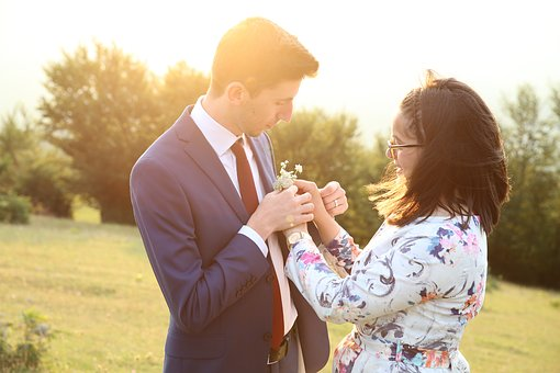 Flower, Sun, Couple, Romantic, Outdoor, Romance