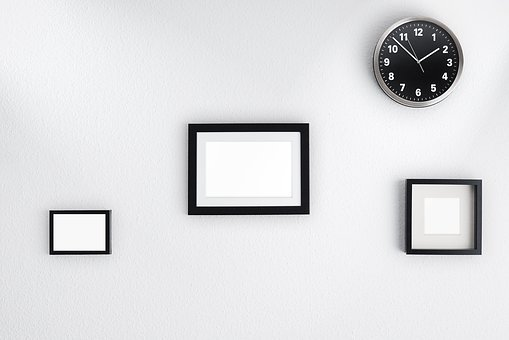 Wall, Images, Murals, Frame, Picture Frame, Clock