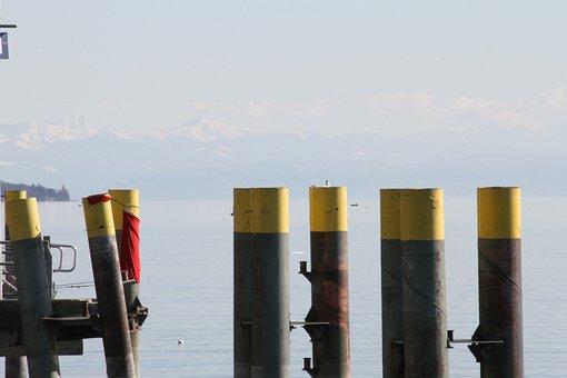 Lake Constance, Lake, Water, Police, Landscape, Mood
