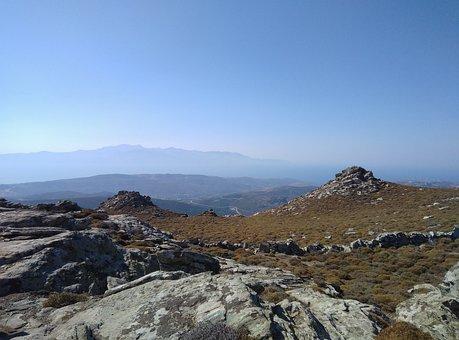 Mountain, Sky, Peak, Landscape, Nature, Scene, Rocky