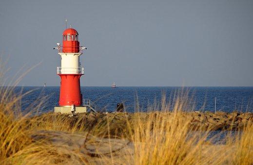 Lighthouse, Baltic Sea, Warnemünde