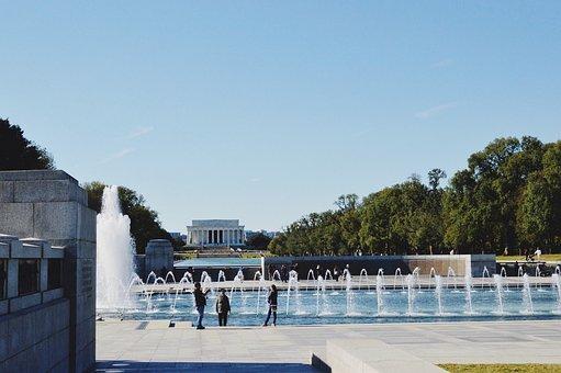 Lincoln Memorial, Washington Dc, World War 2 Memorial