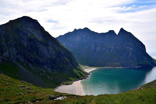 Lofoten, Mountain Peaks, Scandinavia