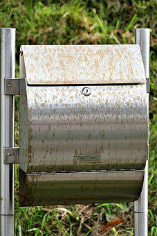 Mailbox, Rust Stains, Metal, Weathered, Corrosion