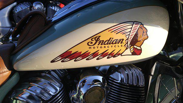 Antique, Bike, Oldie, Indian Head