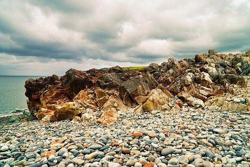 Rock, Beach, Pebbles, Stone, Sea, Pebble, Seashore