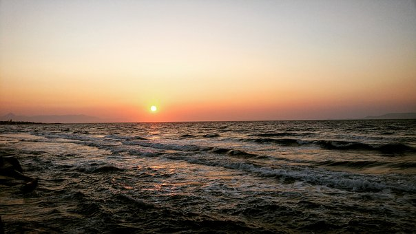 Sun, Sunset, Twilight, Sea, Landscape, Nature Sunset