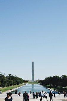 Washington Memorial, Dc, City, Sky, Travel, Outdoors