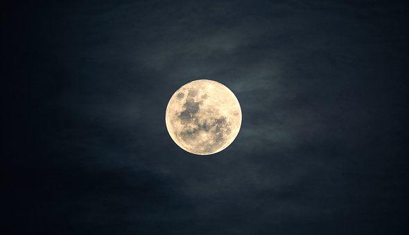 Moon, Sky, Night, Moonlight, Nature, Dark, Peaceful