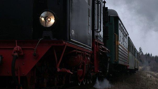 Steam Train, Easter Train, Light In The Dark