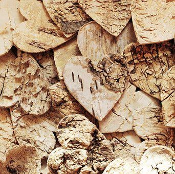 Wood Heart, Texture, Background, Structure, Pattern