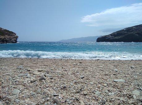 Beach, Waves, Coast, Sandy, Sand, Summer, Sunny, Blue