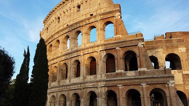 Colloseum, Rome, Ancient, Architecture, Italy, Tourism