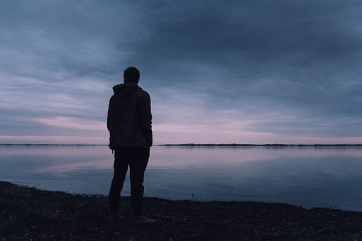 Sea, Water, View, Peace, An Island, A Man, Loneliness