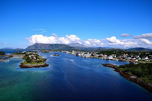 Fjord, Bronnoysund, Outlook, Water, Blue, Norway