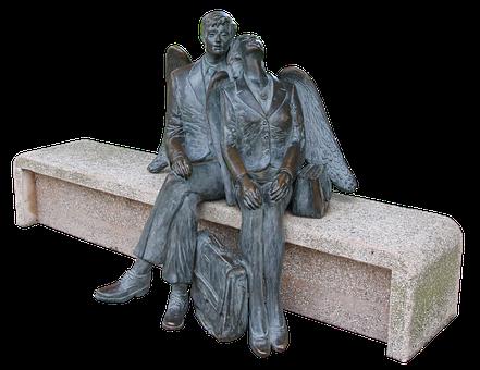 Angel, Male, Wing, Bank, Man, Heavenly, Artwork