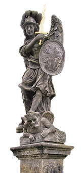 Statue, Archangel, Michael, Angel, Archangel Michael