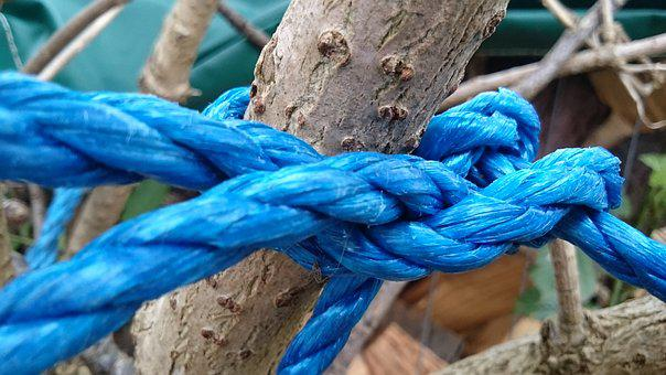 Rope, Texture, Blue
