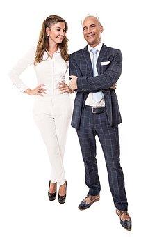 Man, Woman, Business, Human, Successful, Pair, Team