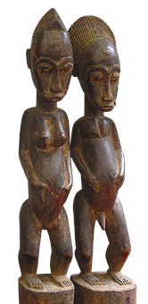 Pair, Figure, Holzfigur, Carved, African, Lovers, Art