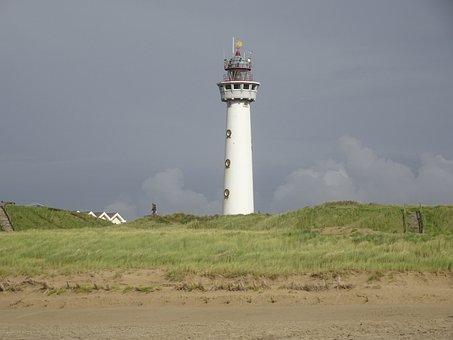 Lighthouse, Sky, Mood, Clouds, Maritime, White