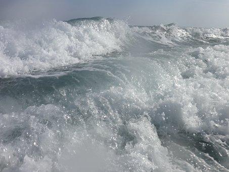 Sea, Water, Blue, Coast, Wave, Windy, Surf, Drip, White