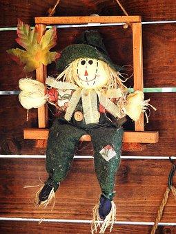 Scarecrow, Decoration, Pop, Straw, Deter, Scare, Fear