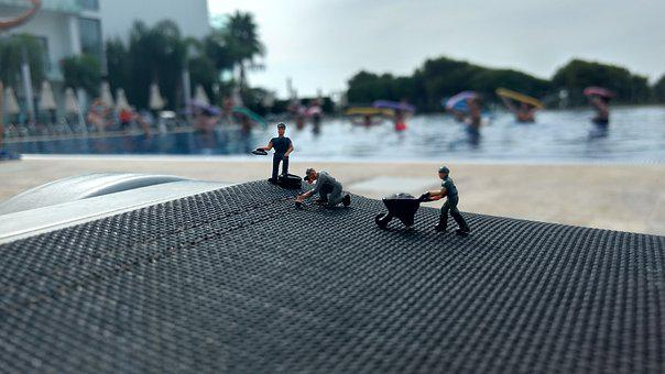 Miniature, Figures, Water, Holiday, H0, 1 87, Craftsmen