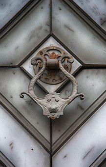 Thumper, Wrought Iron, Metal, Ornament, Fitting, Door