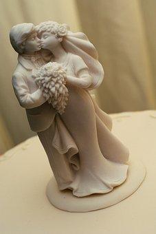 Wedding, Bride, Groom, Kissing, Love, Porcelain