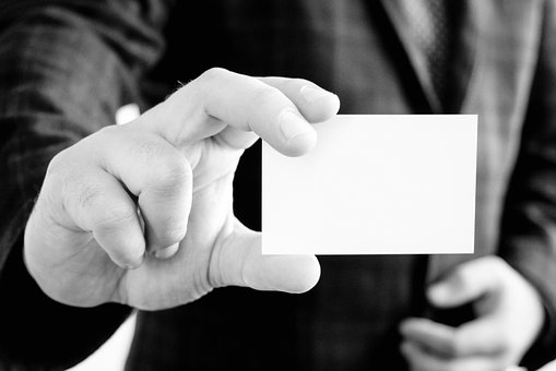 Business Card, Hand, Jacket, Professional, Application