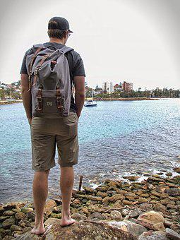 Hiking, Wanderer, More, Adventurer, Expedition, Sea