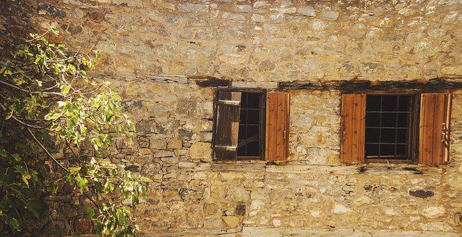 Spinalonga, Wall, Old, Ancient, Brick, Brickwork, House