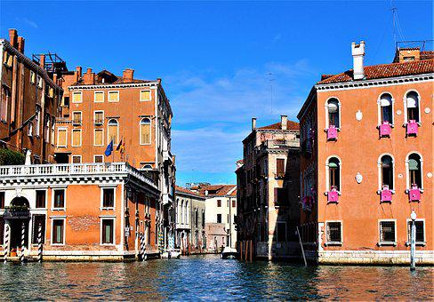 Venice, Italy, Architecture, The Grand Canal, Channel